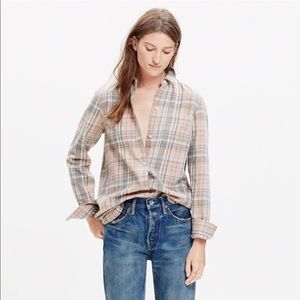 Madewell Pink Cotton Flannel